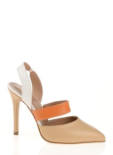 D by Divarese İnce Topuklu Ayakkabı Ten